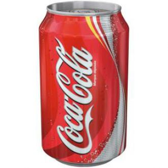 coca cola can of 33 cl